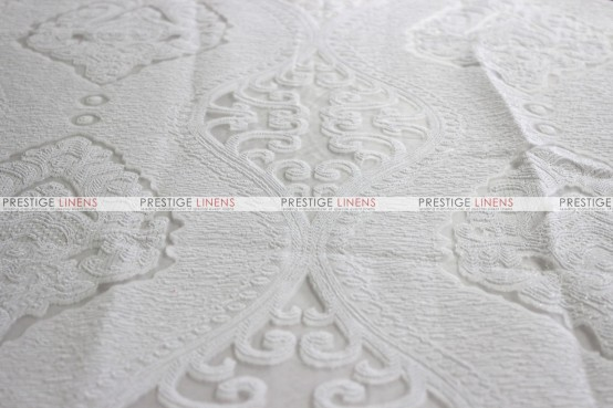 Imperial Damask - Fabric by the yard - White