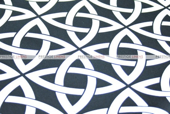 Infinity Print - Fabric by the yard - Black