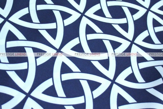 Infinity Print - Fabric by the yard - Navy