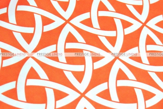 Infinity Print - Fabric by the yard - Orange