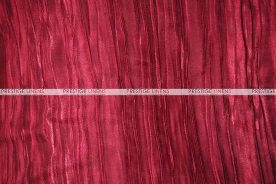 Italian Crush Satin - Fabric by the yard - Burgundy