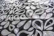 Jaipur - Fabric by the yard - Black/Silver