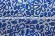 Jaipur - Fabric by the yard - Blue/Silver