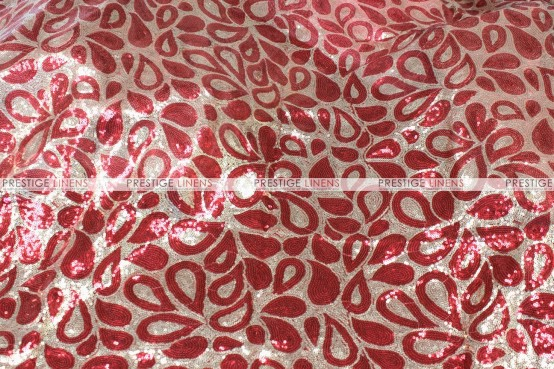 Jaipur - Fabric by the yard - Red/Gold