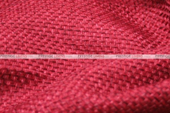 Jute Linen - Fabric by the yard - Red