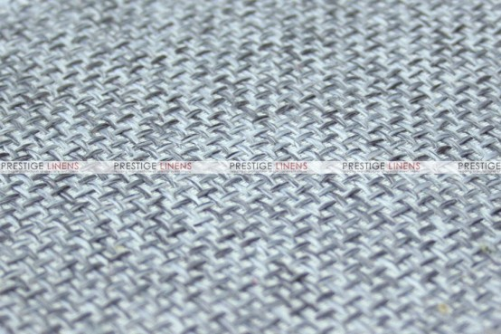 Jute Linen - Fabric by the yard - Silver