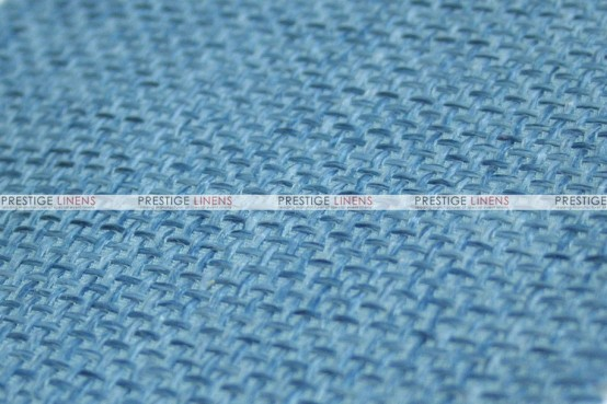 Jute Linen - Fabric by the yard - Skyblue