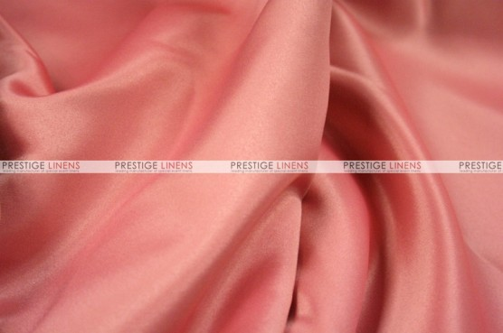 Lamour Matte Satin - Fabric by the yard - 432 Coral