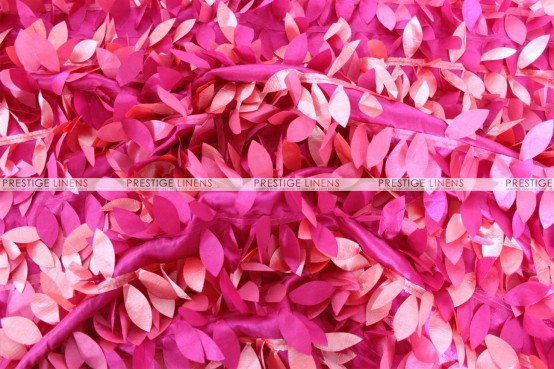 Leaf Petal Taffeta - Fabric by the yard - Multi Fuchsia
