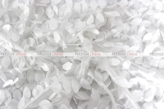 Leaf Petal Taffeta - Fabric by the yard - White