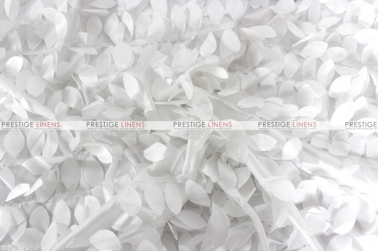 Leaf Petal Taffeta Fabric By The Yard White Prestige