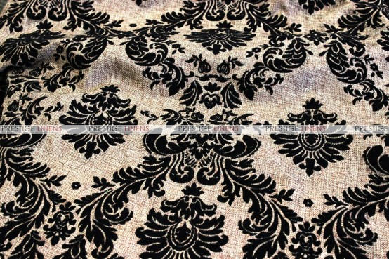 Linen Damask - Fabric by the yard - Khaki