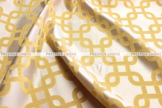 Links Jacquard - Fabric by the yard - Mustard