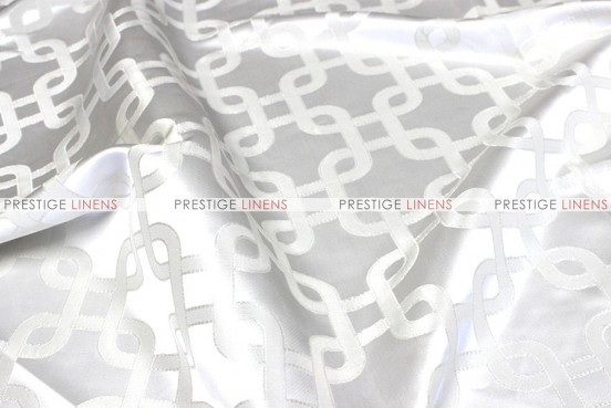 Links Jacquard - Fabric by the yard - White