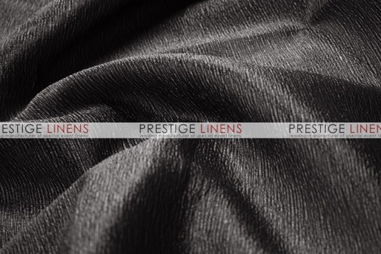 Luxury Textured Satin - Fabric by the yard - Black