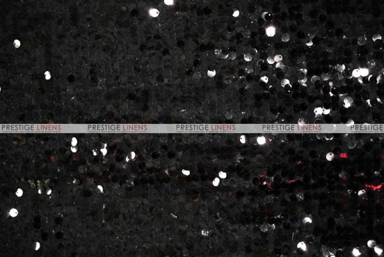 Mesh Sequins Embroidery - Fabric by the yard - Black
