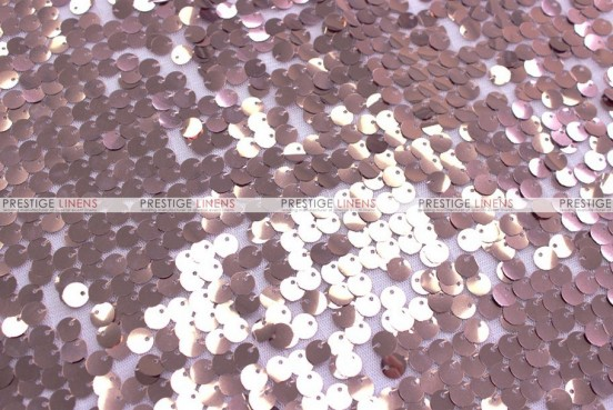 Mesh Sequins Embroidery - Fabric by the yard - Blush