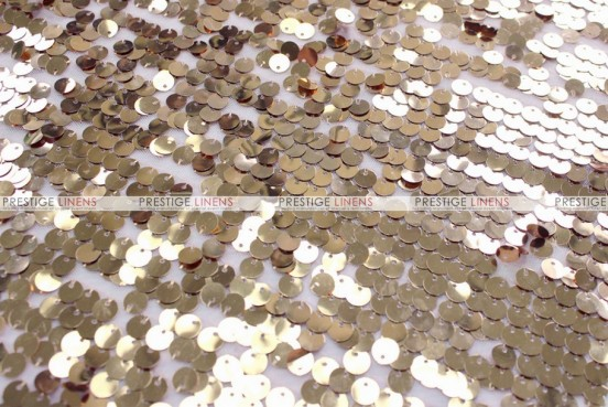 Mesh Sequins Embroidery - Fabric by the yard - Champagne