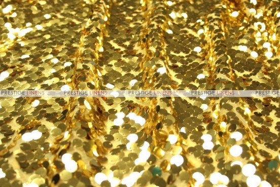 Mesh Sequins Embroidery - Fabric by the yard - Gold