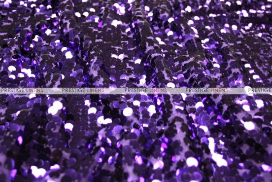 Mesh Sequins Embroidery - Fabric by the yard - Purple