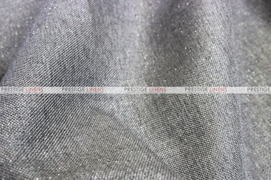 Metallic Linen - Fabric by the yard - Grey