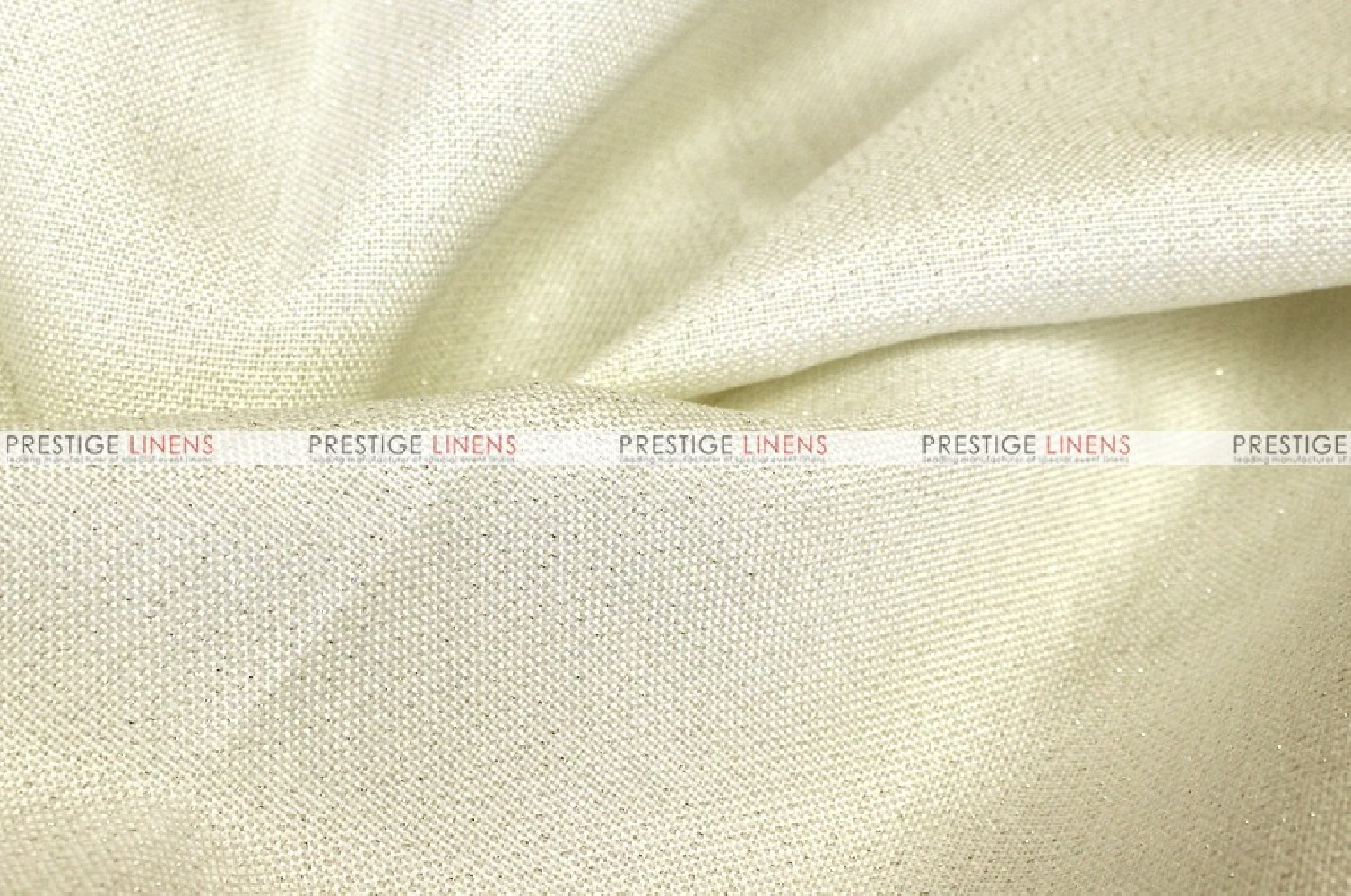 Metallic Linen Fabric by the yard Ivory Prestige Linens