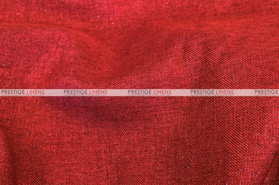 Metallic Linen - Fabric by the yard - Red