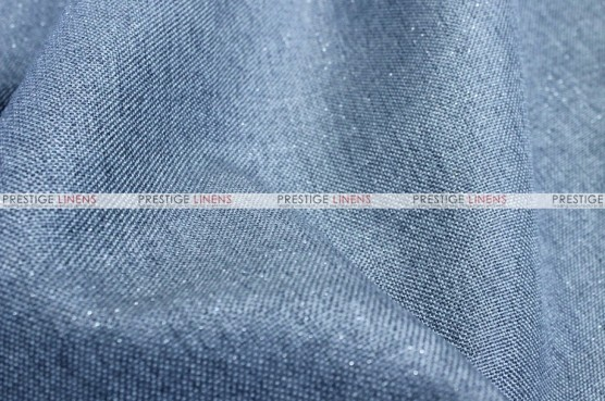 Metallic Linen - Fabric by the yard - Skyblue