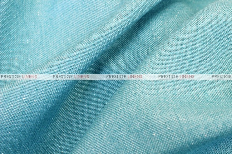 Metallic Linen - Fabric by the yard - Turquoise