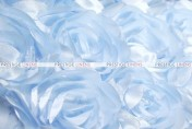 Mini Rosette - Fabric by the yard - Ice Blue