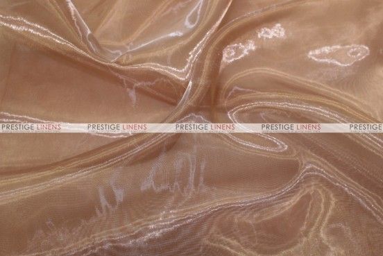 Mirror Organza - Fabric by the yard - 330 Cappuccino