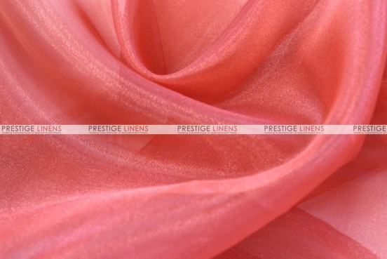 Mirror Organza - Fabric by the yard - 432 Coral