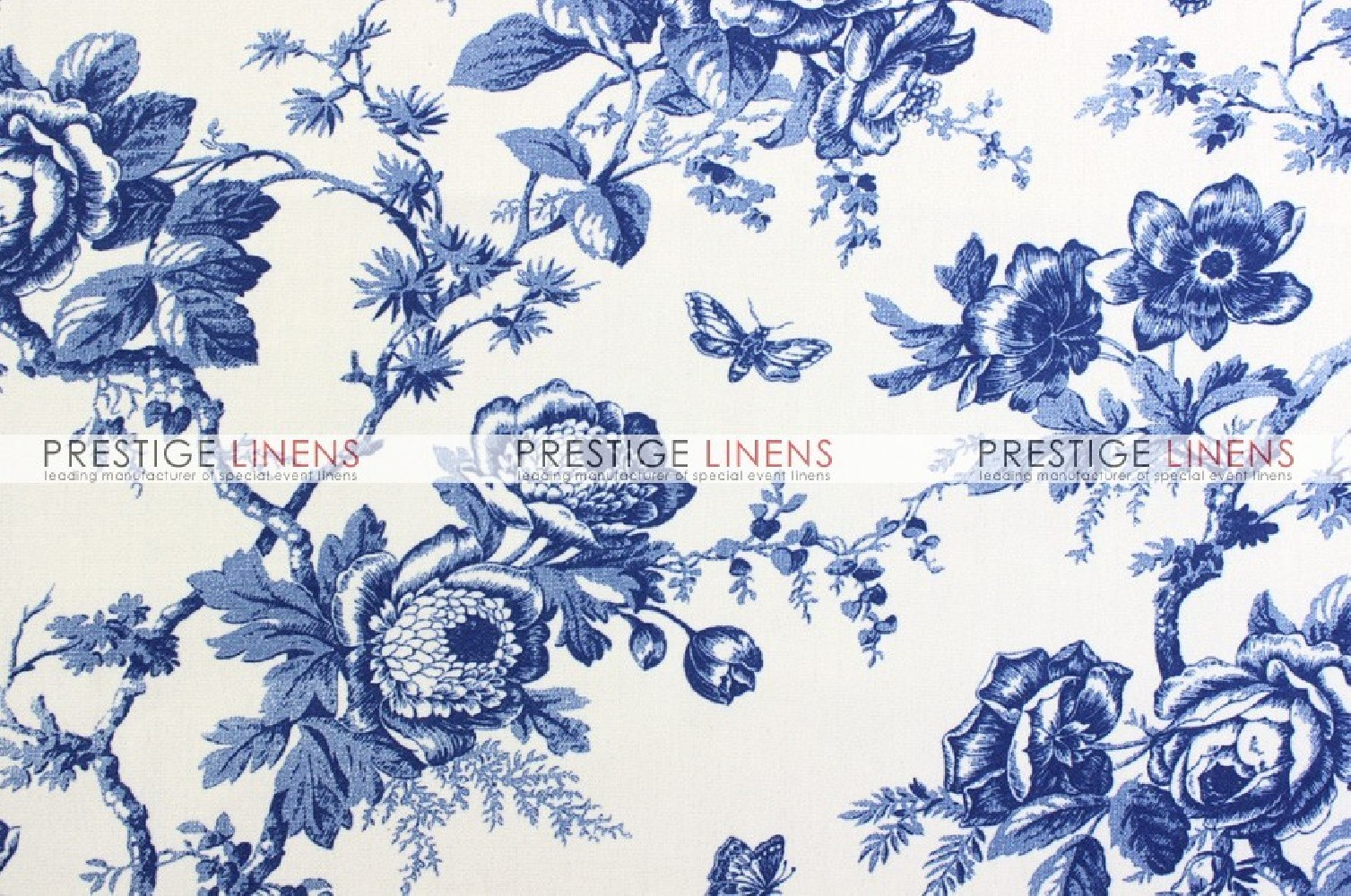 MJS Print - Pottery - Fabric by the yard - Blue - Prestige Linens