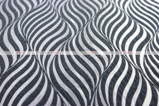 Morocco - Fabric by the yard - Black/Silver