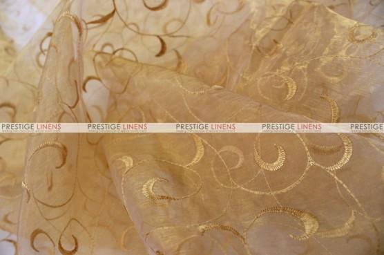 Organza Swirl - Fabric by the yard - 226 Gold