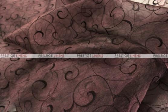 Organza Swirl - Fabric by the yard - 333 Brown
