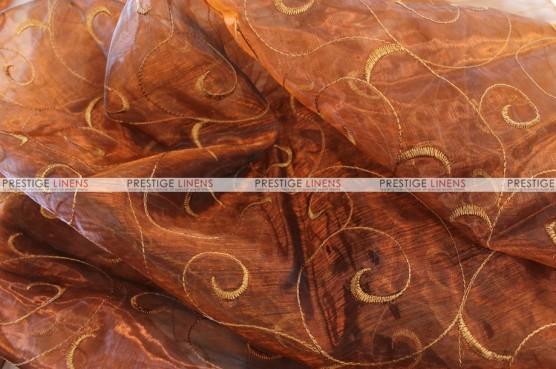 Organza Swirl - Fabric by the yard - 342 Copper