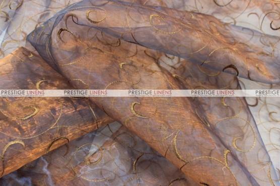 Organza Swirl - Fabric by the yard - 410 Blue/Gold