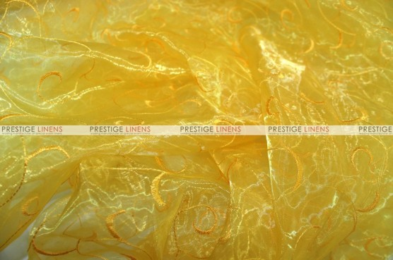 Organza Swirl - Fabric by the yard - 426 Yellow