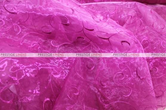Organza Swirl - Fabric by the yard - 529 Fuchsia
