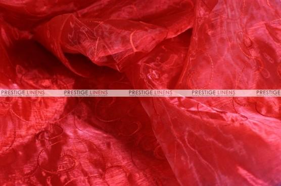 Organza Swirl - Fabric by the yard - 626 Red
