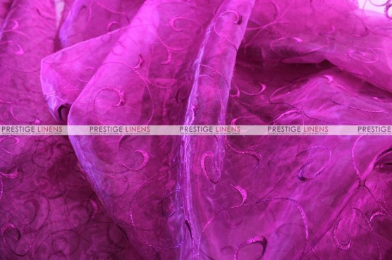 Organza Swirl - Fabric by the yard - 646 Magenta