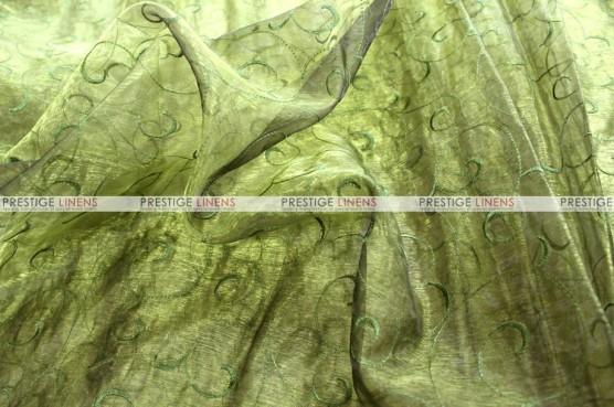 Organza Swirl - Fabric by the yard - 830 Olive