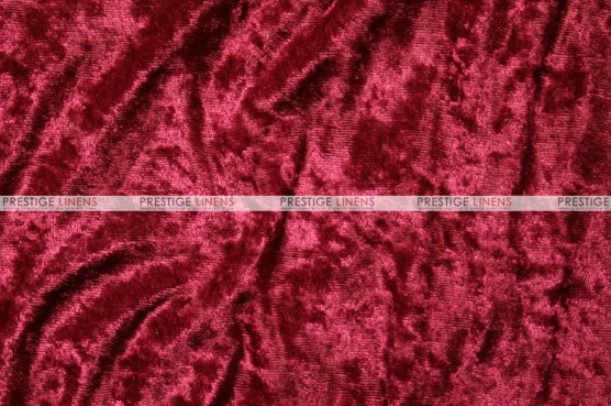 Panne Velvet - Fabric by the yard - Cranberry