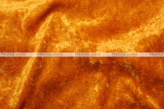 Panne Velvet - Fabric by the yard - Orange