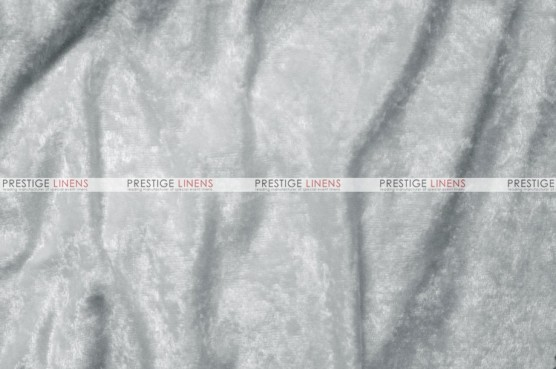 Panne Velvet - Fabric by the yard - White