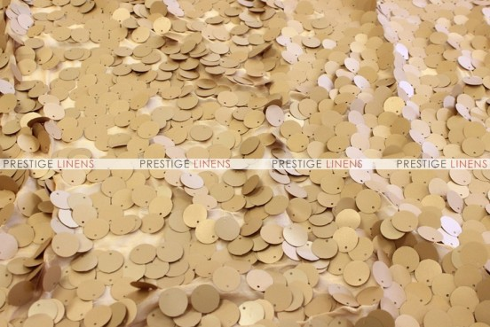 Payette Sequins - Fabric by the yard - Gold (Dull)