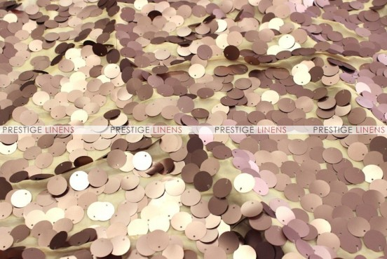 Payette Sequins - Fabric by the yard - Mocha (Dull)