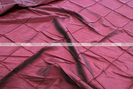 Pintuck Taffeta - Fabric by the yard - Burgundy