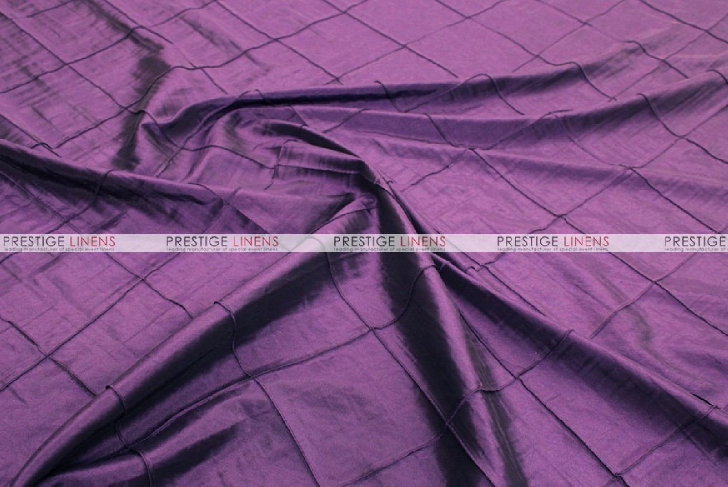 Pintuck Taffeta Fabric By The Yard Plum Prestige Linens